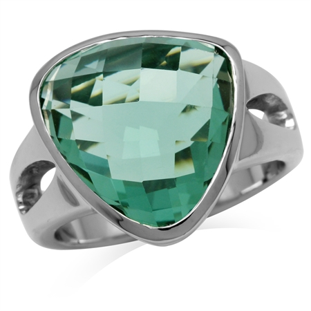 Green CZ Sterling Silver Ring