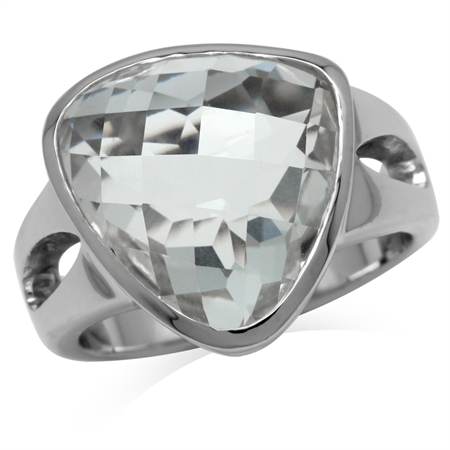 White CZ Sterling Silver Ring