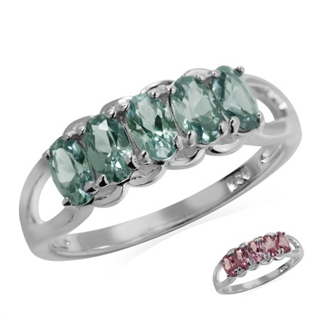 Color Change Created-Alexandrite 925 Sterling Silver Ring