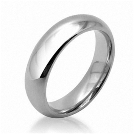 6MM Unisex Stainless Steel Wedding Band Style Ring