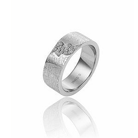 """Unisex Stainless Steel """"Expression"""" Band Ring"""