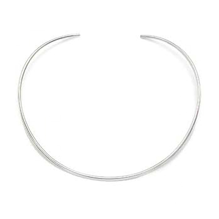 3.5mm Oval Shape Sterling Silver Choker
