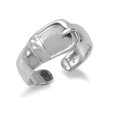 925 Sterling Silver BELT BUCKLE Adjustable Toe Ring