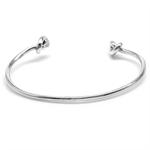 925 Sterling Silver Handmade Heart Knot Bangle/Bracelet