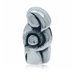 925 Sterling Silver MOTHER & BABY European Charm Bead (Fits Pandora Chamilia)