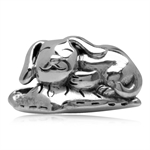 925 Sterling Silver Happy Dog on P...