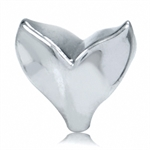 925 Sterling Silver Whale Tail European Charm Bead (Fits Pandora Chamilia)