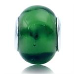 Green Murano Glass Sterling Silver...