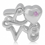 Pink CZ 925 Sterling Silver LOVE E...