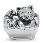 AUTH Nagara 925 Sterling Silver CAT IN BATHTUB European Charm Bead (Fits Pandora Chamilia)