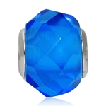 Swiss Blue Murano Glass 925 Sterli...