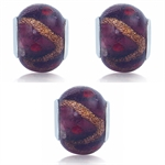 SET of 3 Multicolor Murano Glass S...