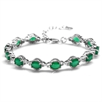 7.92ct. Natural Emerald Green Agat...