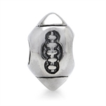925 Sterling Silver Rugby Ball/Ame...