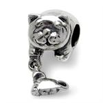 925 Sterling Silver CAT & MOUSE Da...