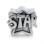 925 Sterling Silver STAR Threaded ...