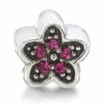 Rose Pink Crystal 925 Sterling Sil...