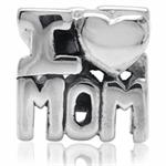 925 Sterling Silver I LOVE MOM Thr...