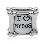 925 Sterling Silver I LOVE MY DOG ...