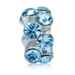 Aquamarine Blue Crystal 925 Sterli...