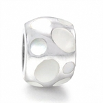 White Mother Of Pearl 925 Sterling Silver Threaded European Charm Bead