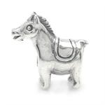 925 Sterling Silver HORSE Threaded European Charm Bead
