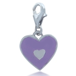 Nagara Purple Enamel Heart 925 Ste...