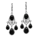 Natural Black Onyx Stone 925 Sterl...