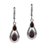 Natural Red Garnet 925 Sterling Si...