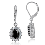 3.76ct. Natural Black Sapphire & W...