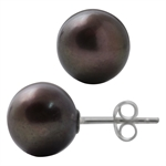 10.5MM Cultured Black Pearl 925 St...