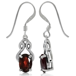 1.8ct. Natural Garnet 925 Sterling Silver Dangel Earrings