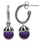 Amethyst Purple CZ Sphere Ball Bal...