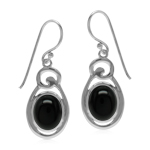 Black Onyx Oval 10x8 mm 925 Sterli...