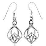 Celtic Knot 925 Sterling Silver Dangle Earrings