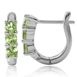 3-Stone Natural Peridot White Gold...