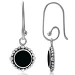 Black Onyx 925 Sterling Silver Balinese Interchangeable Earrings