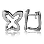 12MM 925 Sterling Silver Butterfly Huggie Earrings