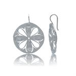Modern Flower Sterling Silver Hook...