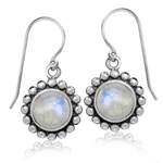 8MM Natural Moonstone Antique Fini...