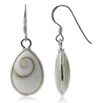 Shiva Shell 925 Sterling Silver Drop Dangle Earrings
