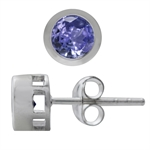 1.02ct. Natural Tanzanite 925 Sterling Silver Stud Earrings