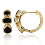 Black CZ 14K Gold Plated 925 Sterl...