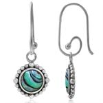 Abalone/Paua Shell 925 Sterling Silver Balinese Interchangeable Earrings
