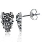 Black CZ 925 Sterling Silver Owl S...