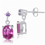 Pink Sapphire Doublet & Amethyst 9...