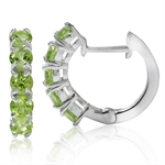 1.9ct. 5-Stone Natural Peridot 925...