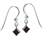 1.58ct. Natural January Birthstone Garnet 925 Sterling Silver Dangle Earrings