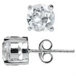 3.18ct. Genuine White Topaz 925 Sterling Silver Stud Earrings