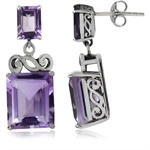 12.7ct. Natural Amethyst 925 Sterl...